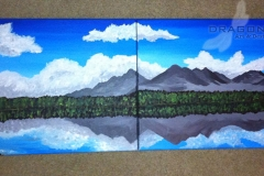 Mountain Lake Diptych