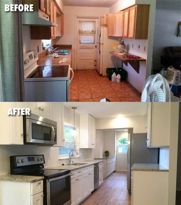 Kitchen & Laundry Before & After