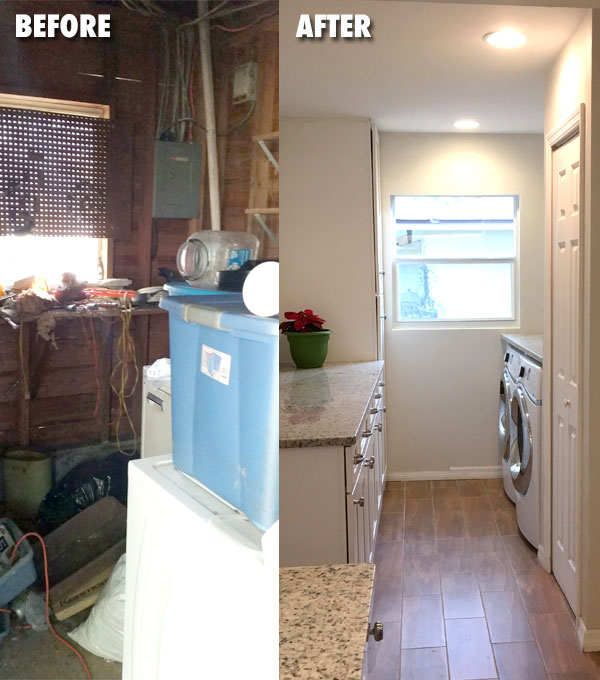 Laundry Before & After